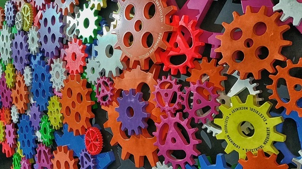 Bunch of colorful gears